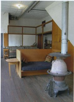 Kitchen in private home and studio of artist Donald Judd (1928-1994) at 101 Spring Street, Soho, NYC.