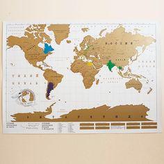 Truemap - большая стиральная скретч карта путешествий (84 см.)
