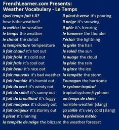 Le Temps #apprendreanglais,apprendreanglaisenfant,anglaisfacile,coursanglais,parleranglais,apprendreanglaisfacile,leconanglais,apprentissageanglais,formationanglais #apprendreanglais,apprendreanglaisenfant,anglaisfacile,coursanglais,parleranglais,apprendreanglaisfacile,leconanglais,apprentissageanglais,formationanglais,methodeanglais,communiqueranglais French Verbs, French Phrases, French Grammar, French Quotes, Basic French Words, How To Speak French, Learn French, French Language Lessons, French Language Learning