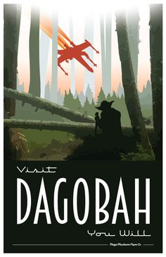 Dagobah Star Wars Travel Poster by MMPaperCo - Star Wars Canvas - Latest and trending Star Wars Canvas. - Dagobah Star Wars Travel Poster by MMPaperCo Poster Retro, Poster S, Star Wars Poster, Vintage Travel Posters, Tourism Poster, Poster Ideas, Star Wars Fan Art, Theme Star Wars, Star Trek