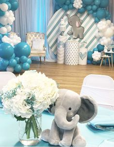 Newest Snap Shots elephant Baby Shower Decorations Tips Congratulate parents-to-be by having on a unforgettable baby shower. How would you produce a party remarkable? Elephant Baby Shower Centerpieces, Baby Shower Decorations For Boys, Boy Baby Shower Themes, Baby Shower Balloons, Baby Boy Shower, Elephant Baby Boy, Elephant Baby Showers, Elephant Theme, Elephant Party