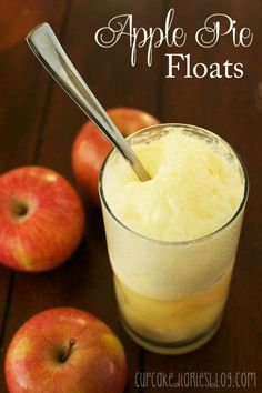 Apple Pie Floats with Martinelli's Sparkling Cider! Apple Recipes, Fall Recipes, Great Recipes, Favorite Recipes, Pie Dessert, Dessert Recipes, Yummy Treats, Delicious Desserts, Sweet Treats