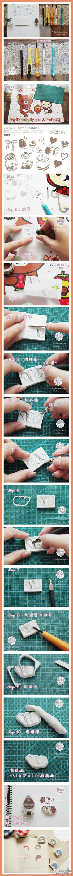 DIY: Stamps Handmade  (Last Picture Idea = Want To Create for Return Address, My Head :)