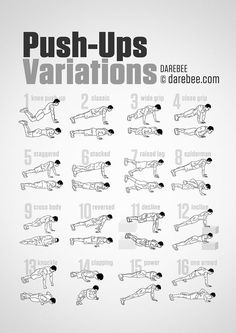 Push up variations exercise health exercise tips infographic health tips infographics health infographics tips on being healthy infographic on health exercise infographics Push Up Workout, Gym Workout Tips, Fitness Workouts, Fitness Tips, Workout Plans, Bodyweight Arm Workout, Easy Daily Workouts, Calisthenics Workout Routine, Arm Workout Men