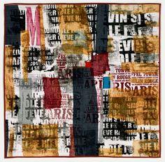 Jette Clover, Letter Landscape 9 Typography, Lettering, Urban Landscape, Word Art, Mixed Media Art, Fiber Art, Graffiti, Art Pieces, Photo Wall