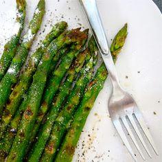 Garlic chardonnay asparagus