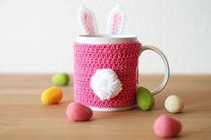 Ravelry: Easter bunny mug cozy pattern by Kirsten from Haak maar Raak!