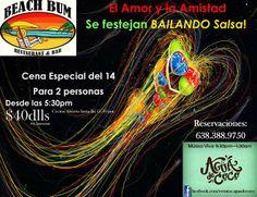 """Febrero 14: Festeja San Valentín bailando salsa en el bar """"Mexican Beach Bum"""" con Agua de coco"""