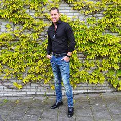 Shirt blouse black   Pocket jeans   Men's shoes suede   Sunglasses elegant   Black belt   Plain watch http://mymenfashion.com/men-s-shoes-suede.html
