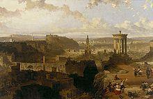 Roberts, David, (1796-1864), Edinburgh from Calton Hill, 1858