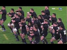 """Ka mate! Ka mate! Ka ora! Ka ora!"" (I die! I die! I live! I live!) -- ""Ka Mate,"" a Maori haka, or war chant, performed by New Zealand's All Blacks rugby team as a pregame ritual. I love my rugby man!"