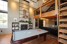 I would love a pool table! His & Hers by Boren Construction