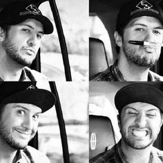 Hottie Luke Bryan... that bottom left pic makes me think I could be good friends with the guy. Anyone who can make a creeper face like that is alright in my book.