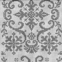 View album on Yandex. Thread Crochet, Filet Crochet, Pixel Pattern, Embroidery Designs, Knitting Patterns, Cross Stitch, Charts, Sewing, Yandex
