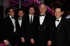 Actors Andy Samberg, Adam Scott, Bill Hader, Bill Murray, and Paul Rudd By Getty Images/V.F. - *Vanity Fair* Oscar Party 2014