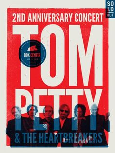BOK Center: Tom Petty and the Heartbreakers Poster #tompetty #heartbreakers