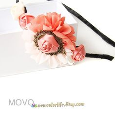 Retro Lolita lovely Headband with Flower Rose by NewColorLife, $12.50