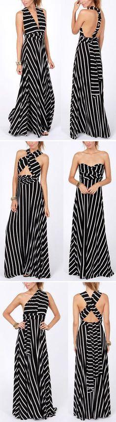 Infinity Wrap Maxi Dress // 6 different ways to wear one dress!
