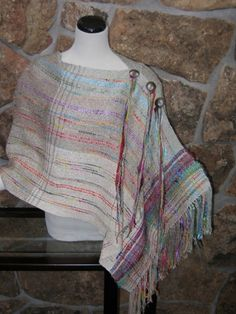 Navajo Desert Poncho by HandwovensbySherryK on Etsy, $200.00