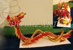 Origami 3D Dragon.