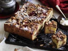 Rhubarb and vanilla crumble cake, rhubarb recipe, brought to you by Australian Women's Weekly