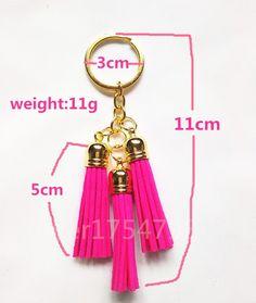 2016 New Arrival Leather Design Superfine Fiber 3 Tassel Keychains Golden Fashion Key Ring Women Bag Charming Pendant Car Key