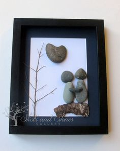 Unique Engagement Gift- Personalized Couple's Gift  - Valentine's Day - Pebble Art - Love Gifts on Etsy, $80.00 CAD