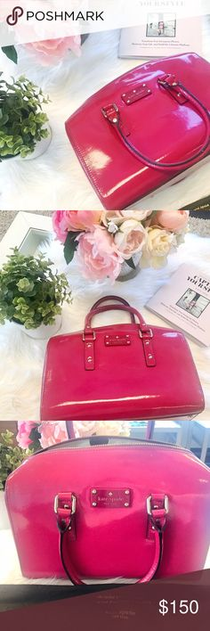 Kate Spade Purse ♠️ - Hot Pink This purse has been gently used. It comes with the dust bag. Please let me know if you have any questions! kate spade Bags