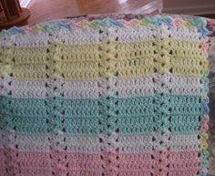 Hushabye Simple Shell Afghan | FaveCrafts.com #crochet #crochetstitch #shellstitch
