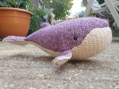 My version of the crocheted baby humpback whale. Love how it works with so many colors!