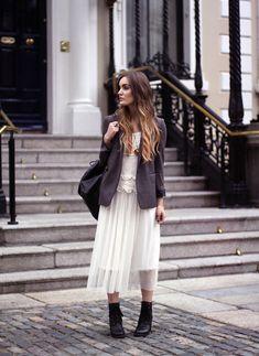 The Kooples Blazer, Chicwish Dress, Chicwish Shoes, Latemanta.Com Bag, Http://Www.Lesjumellesboutique Shop.Com Necklace