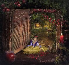 2 digital backgrounds, Snow White magical book, with and without text, so you can add your own! for fantasy and fairytale photography ! Snow White Book, Snow White Fairytale, Snow White Birthday, Alice In Wonderland Tea Party, Editing Background, Digital Backgrounds, Digital Backdrops, Beautiful Fairies, Photography Backdrops