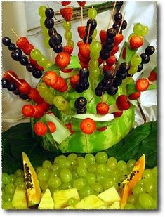 180 Best Fruit Table Decor Images On Pinterest | Creative Food, Food Art  And Food Garnishes