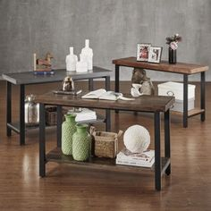 Create a modern country look in your living area or family room with the Cyra Industrial Style Sofa Table TV Stand. This is the perfect piece to place in front of your sofa for optimal visual appeal. Industrial Sofa, Industrial Sofa Table, Furniture Deals, Sofa Table, Table Tv, Furniture, Sofa End Tables, Carbon Loft, Living Room Furniture