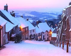 Snow in Shaftesbury - England