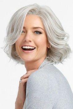 Flirt Alert by Raquel Welch Wigs - Lace Front, Monofilament Part Wig Grey Hair Wig, Lace Hair, Blonde Hair, Purple Hair, Brown Hair, Ombre Hair, Frontal Hairstyles, Wig Hairstyles, Modern Bob Hairstyles