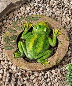 This Frog Animal Design Stepping Stone by Giftcraft is perfect! #zulilyfinds