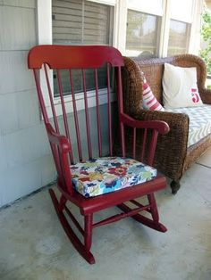Going To Have The Red Rocking Chair W Custom Cushions