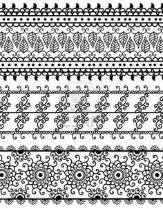 henna border designs drawings - Google Search
