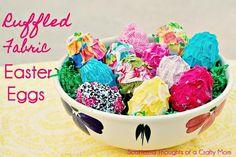 DIY easter crafts DIY Ruffled Fabric Easter Eggs DIY easter crafts