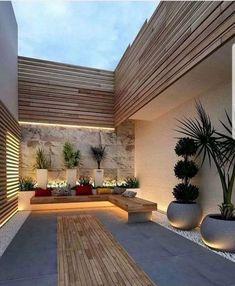 Small Backyard Gardens, Small Backyard Design, Home Garden Design, Modern Backyard, Backyard Garden Design, Small Backyard Landscaping, Modern Landscaping, Small Patio, Patio Design