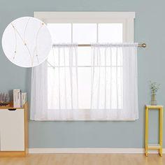 Deconovo Sheer Curtains - CountryCurtains Printed Curtains, Sheer Curtains, Curtain Rods, Interior Decorating, Interior Design, Rod Pocket, Soft Furnishings, Luxury Homes