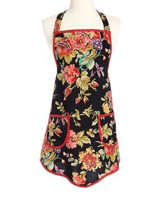 Look at this #zulilyfind! Wild Rose Apron - Women by Design Imports #zulilyfinds