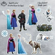 Your place to buy and sell all things handmade Frozen Cupcake Toppers, Frozen Cupcakes, Frozen Cake Topper, Birthday Cake Toppers, Cake Birthday, Frozen Themed Birthday Party, Birthday Party Themes, Frozen Centerpieces, Ana Frozen