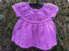 Ravelry: Project Gallery for Megan Dress pattern by Suzie Sparkles  Baby & Girls dress knitting pattern. Lace yoke. Semaless knit.