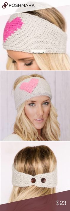 LAST ONE✨Knitted heart headband Three bird nest yummy Knit is here limited for valentines headband w heart. Bnwt adjustable sizing-->. Our amazingly gorgeous girly knitted headband with a pink heart is set on a taupe knitted adjustable headband. Three Bird Nest original must have Knitted Heart Headband in Pink & Taupe is here for Fall 2016 for a limited time only! Don't miss out again! Easy to wear button back adjustable style closure. Three Bird Nest Accessories Hats