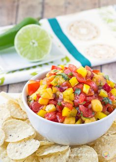 Homemade Peach Salsa | Cooking on the Front Burner #appetizer #summersnack
