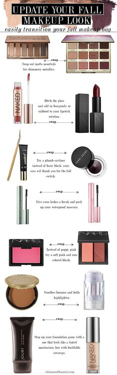 transition your summer makeup to fall my swapping out these!