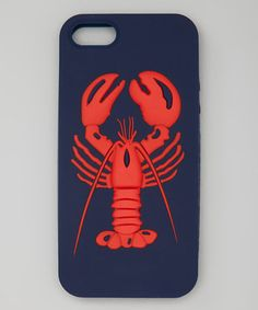 Take a look at this Navy & Red Lobster Case for iPhone 4/4S by Kenny Dana on #zulily today!