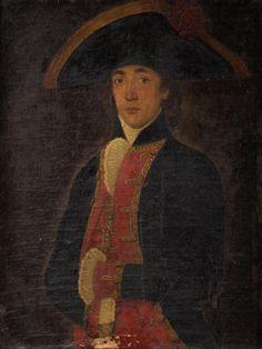 Anónimo hispano-novohispano, Retrato de militar no identificado, óleo sobre tela, sin medidas, ca. 1795-1810, colección particular, catalogación: Juan Carlos Cancino.